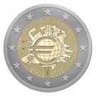 Picture of 2 Euromunt 2012 Nederland 10 Jaar Euro UNC