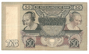 Picture of 50 gulden 1941: nr. 97