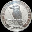 """Picture of Zilveren 1 kilo-munt """"Kookaburra"""" 2009"""