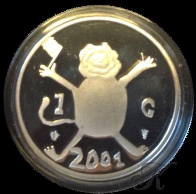 Munthandel kevelam b v 1 gulden 2001 loeki zilver for Gulden interieur b v