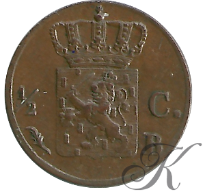 Picture of ½ cent 1821 Brussel