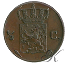 Picture of ½ cent 1818 Utrecht