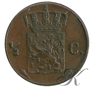 Picture of ½ cent 1824 Utrecht