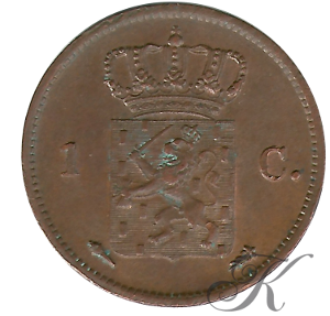 Picture of 1 cent 1837 Utrecht