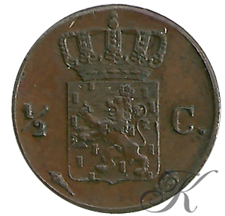 Picture for category ½ Cent Willem I