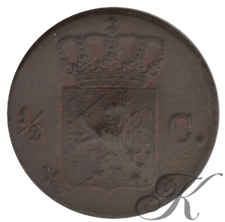 Picture for category ½ Cent Willem III