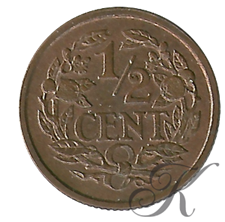 Picture for category ½ Cent Wilhelmina