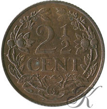 Picture for category 2½ Cent Wilhelmina