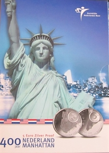 Picture of 5 euro zilver proof 2009 Manhattan