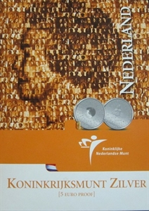Picture of 5 euro zilver proof Koninkrijksmunt  2004 Koninkrijksstatuut