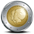 """Picture of 2 Euro Nederland 2013 """"Troonswisseling"""" Proof"""