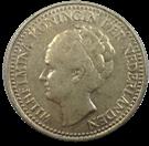 Picture of Zilveren halve gulden Wilhelmina (prijs per 100 st.)