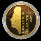 Picture of 1 Gulden 2001 Goud  zonder randschrift