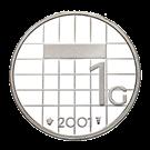 Picture of 100 x zilveren gulden 2001 in proof-kwaliteit
