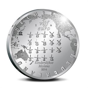Picture of 5 euro zilver proof 2014 Het Molen Vijfje