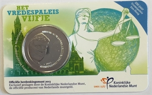 Picture of Coincard 5 Euro 2013 Vredespaleis variant