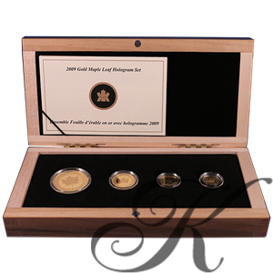 Picture of Canada: 2009 Gold Maple Leaf Hologram Set