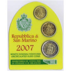 Picture of BU-set San Marino 2007 mini (geel)