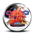 Picture of Aruba 5 Florin Herdenkingsmunt 2014: 60 jaar carnaval op Aruba