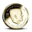Picture of 10 Gulden Curaçao en Sint Maarten Koning Willem-Alexander 2017 Goud Proof