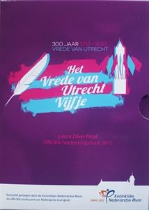 Picture of 5 euro zilver proof 2013 Vrede van Utrecht