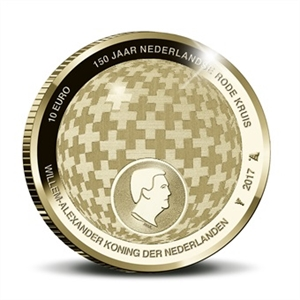 Picture of Rode Kruis Tientje 2017 Goud Proof