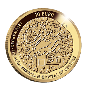 Picture of 10 euro goud proof 2018 Leeuwarden