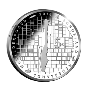 Picture of 5 euro zilver proof 2018 Schokland