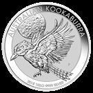 """Picture of Zilveren 1 kilo-munt """"Kookaburra"""" 2018"""