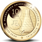 Picture of 10 euro goud proof 2018 Wageningen Universiteit