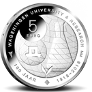 Picture of 5 euro zilver proof 2018 Wageningen Universiteit