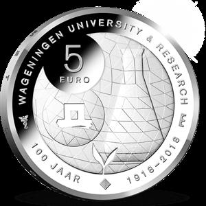 Picture of 5 euro zilver proof 2018 Wageningen Universiteit