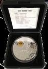 """Picture of Zilveren penning """"200 Euro"""" met gouden kinegram - Amsterdam 1997"""