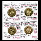 Picture of Gouden 20 guldenmunten van 1848, 1850, 1851 & 1853