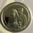 Picture of 50 x Zilveren penning 10 jaar huw. W-A en maxima (758 gram fijn zilver)