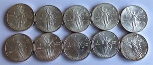 Picture of 1 0x zilveren 1 ounce-munt Libertad Mexico (9 verschillende)