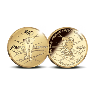 Picture of 10 euro goud proof 2019 Jaap Eden