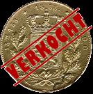 Picture of Dubbele negotiepenning of 20 Gulden goud 1853 (RRR)