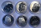 Picture of Lot van 6 zilveren ounces Tchad (direct leverbaar)