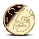 Picture of 10 euro goud proof 2020 75 jaar vrijheid