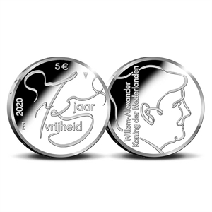 Picture of 5 euro zilver proof 2020 75 jaar vrijheid